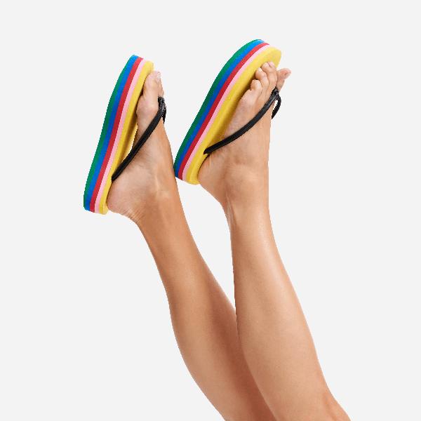 Vilebrequin Women Multicolor Plateform Flipflop