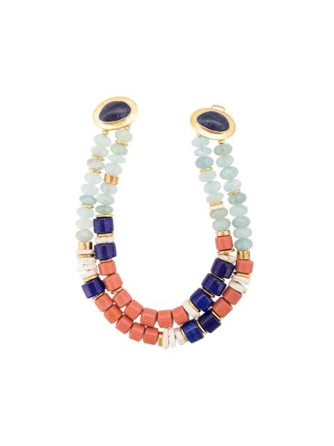 Lizzie Fortunato Ariel Necklace In Blue