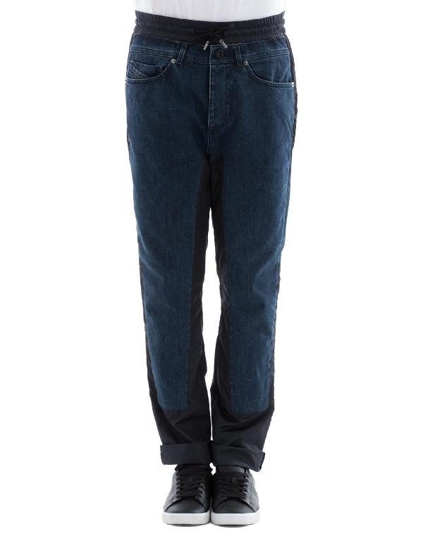 Diesel Black Gold Blue Cotton Jeans