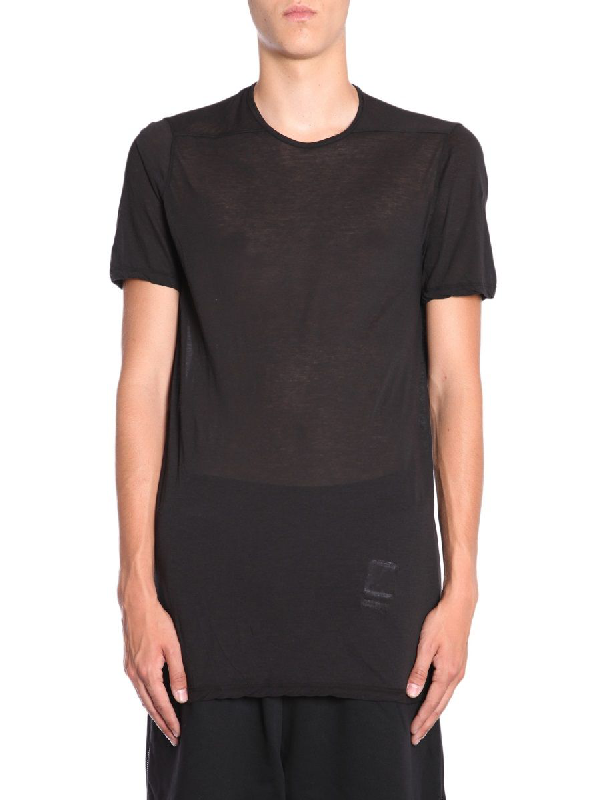 Rick Owens Drkshdw Black Cotton T-Shirt