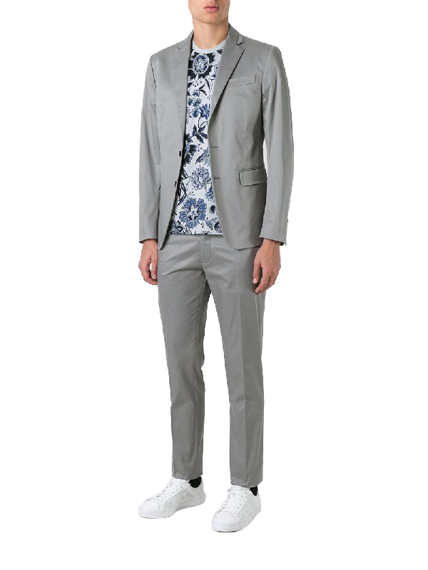 Dsquared2 Grey Cotton Suit