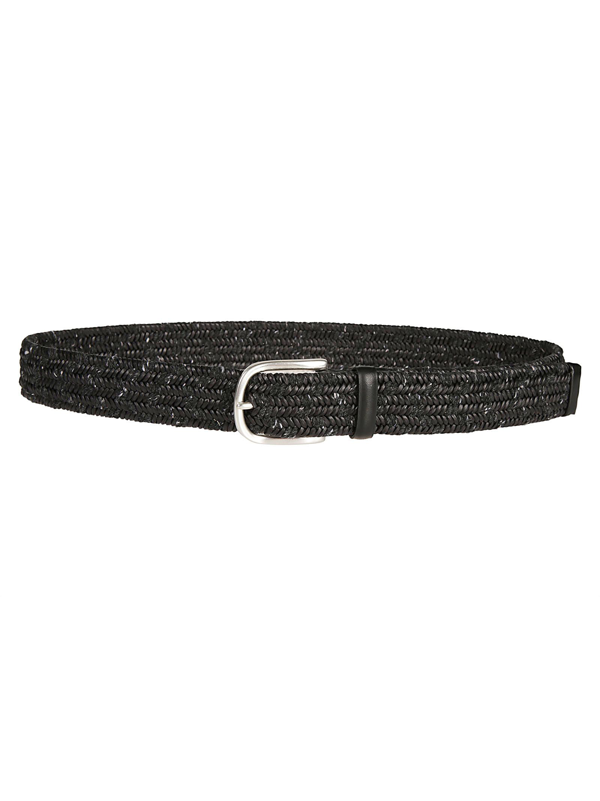 Orciani Men's Grey Leather Belt