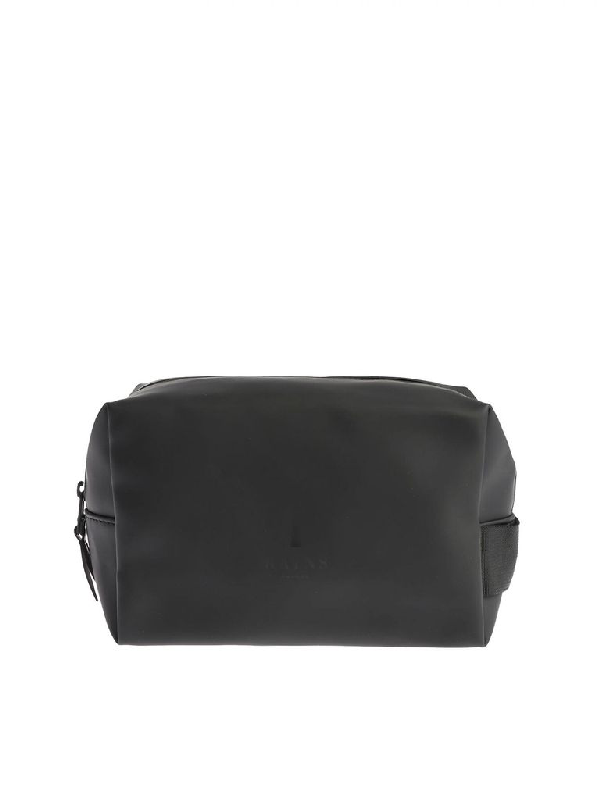 Rains Men's Black Polyester Beauty Case
