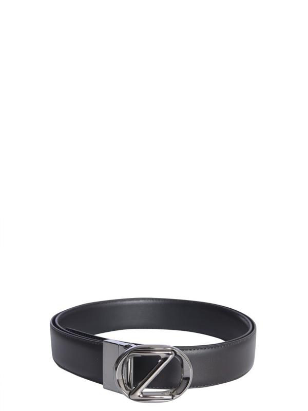 Z Zegna Men's 602azpj45ftdn Black Leather Belt