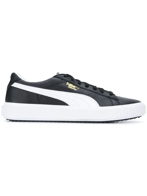 release date: 9128a c6e99 Puma Men s Breaker Leather Casual Sneakers From Finish Line In Black