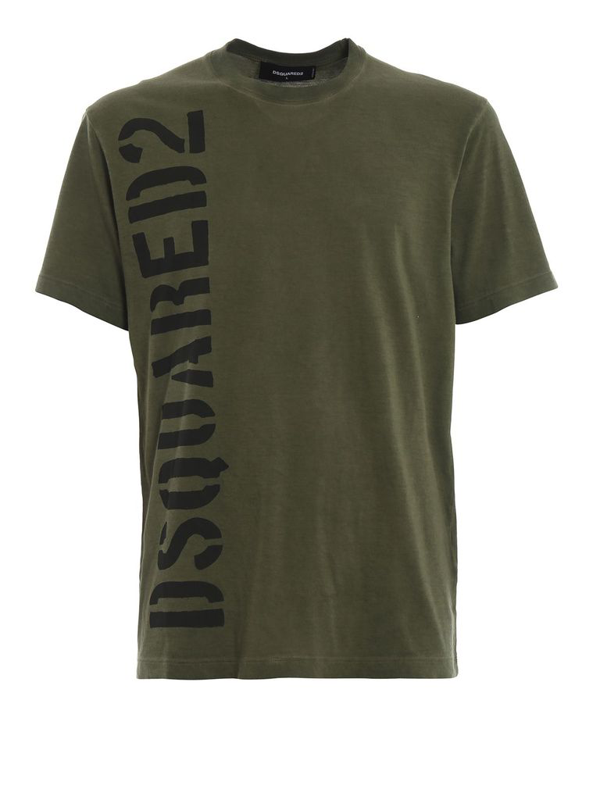 Dsquared2 Men's Green Cotton T-shirt