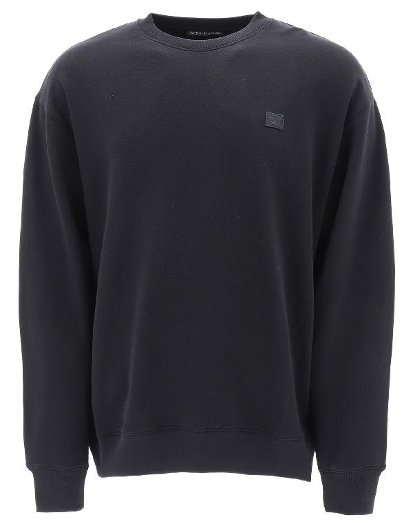 Acne Studios Men's Black Cotton Sweatshirt