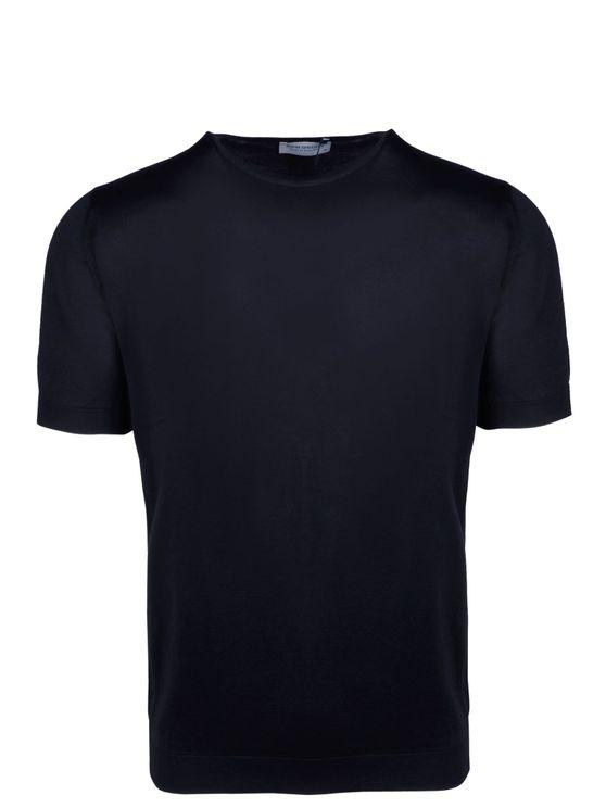 John Smedley Belden Sea Island Cotton T-shirt In Blue