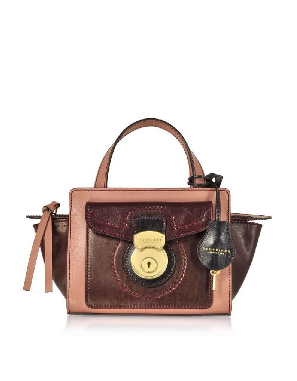 The Bridge Women's Burgundy Leather Handbag
