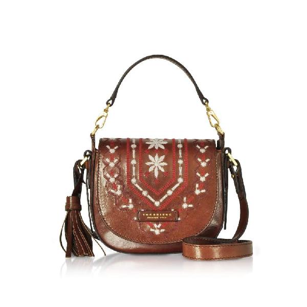 The Bridge Women's Brown Leather Shoulder Bag