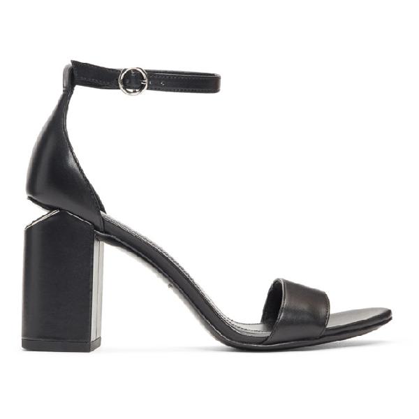 Alexander Wang Women's 3049S0016L001 Black Leather Sandals