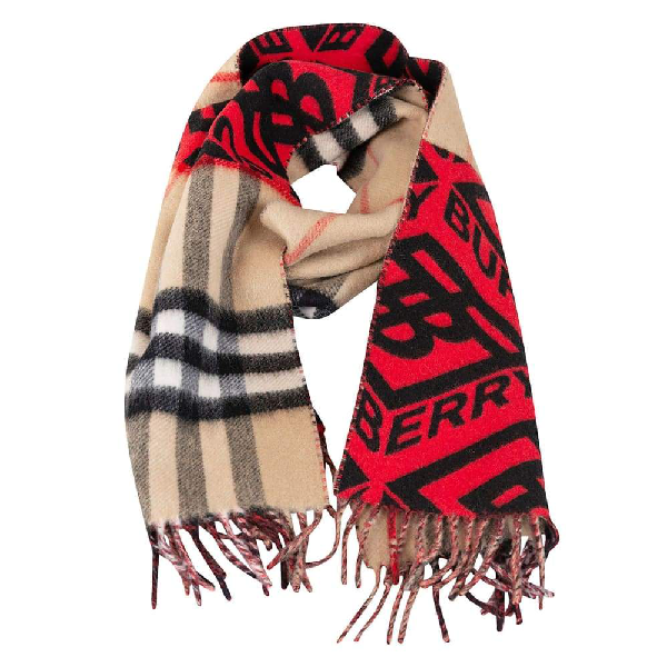 Burberry Women's Red Cashmere Scarf