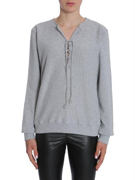 Saint Laurent Cotton Sweatshirt In Grey