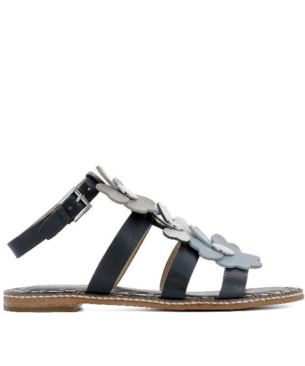 Michael Kors Blue Leather Sandals
