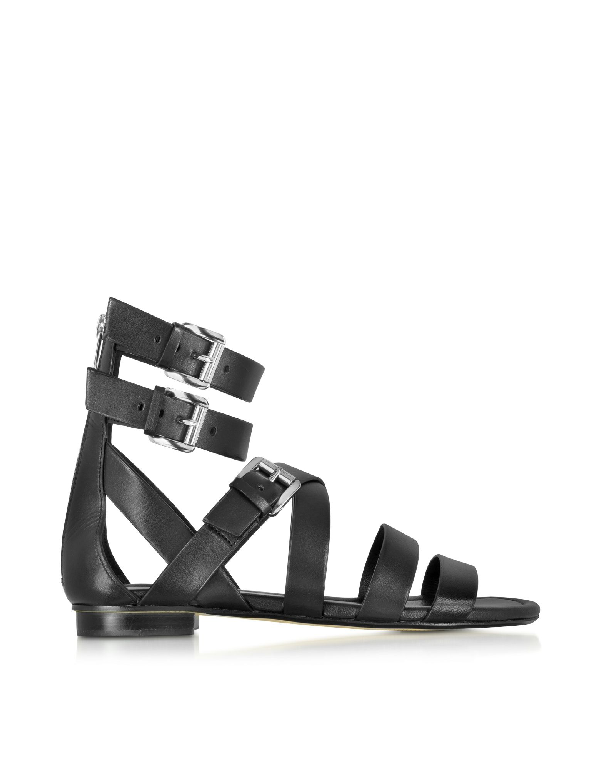 Michael Kors Black Leather Sandals