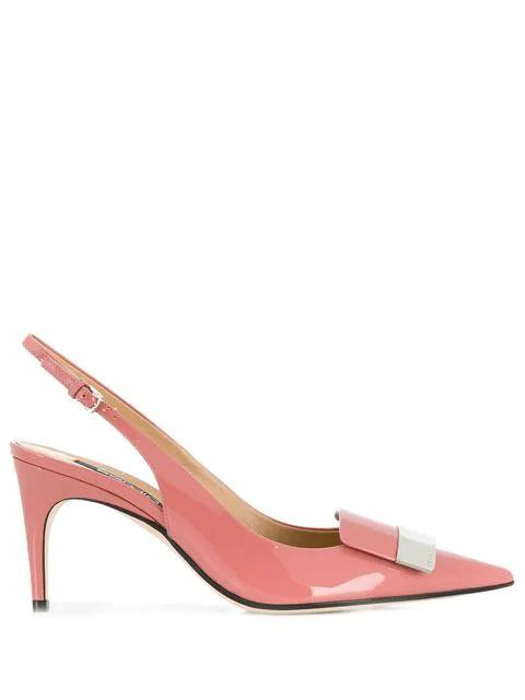 Sergio Rossi Women's A80290Mviv015870 Pink Patent Leather Pumps