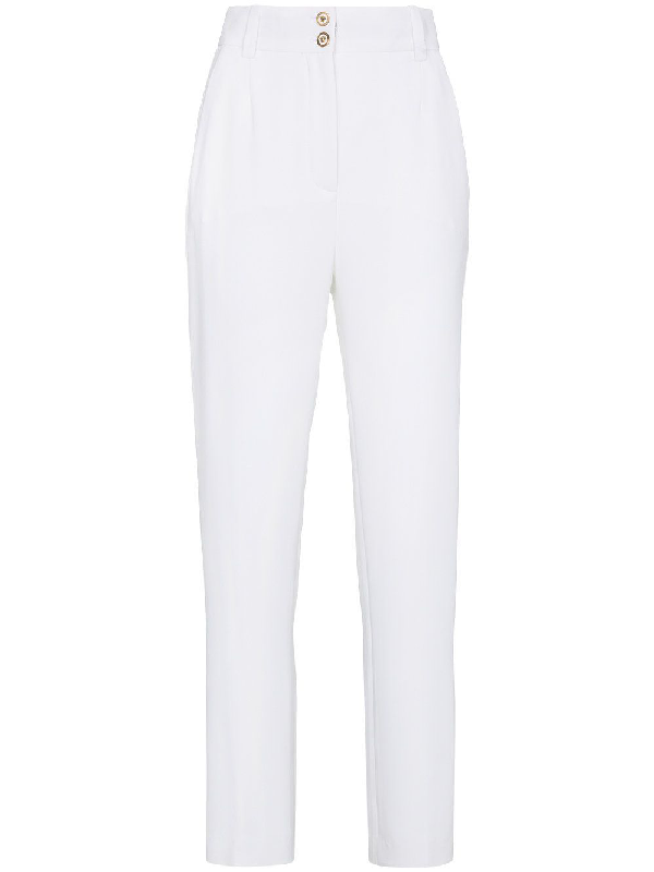 Versace Women's A79629A217281A1001 White Silk Pants