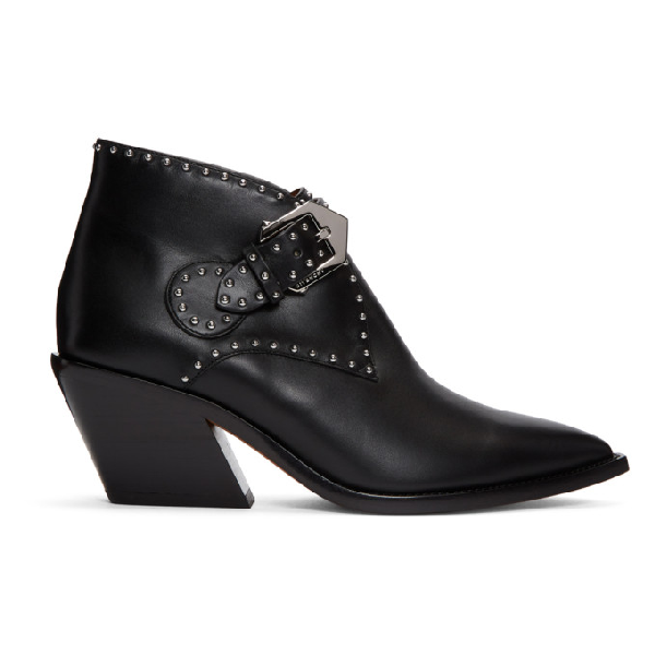 Givenchy Women's Be600Qe00C001 Black Leather Ankle Boots