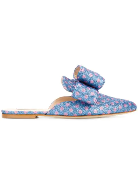 Polly Plume Blue Polyester Loafers
