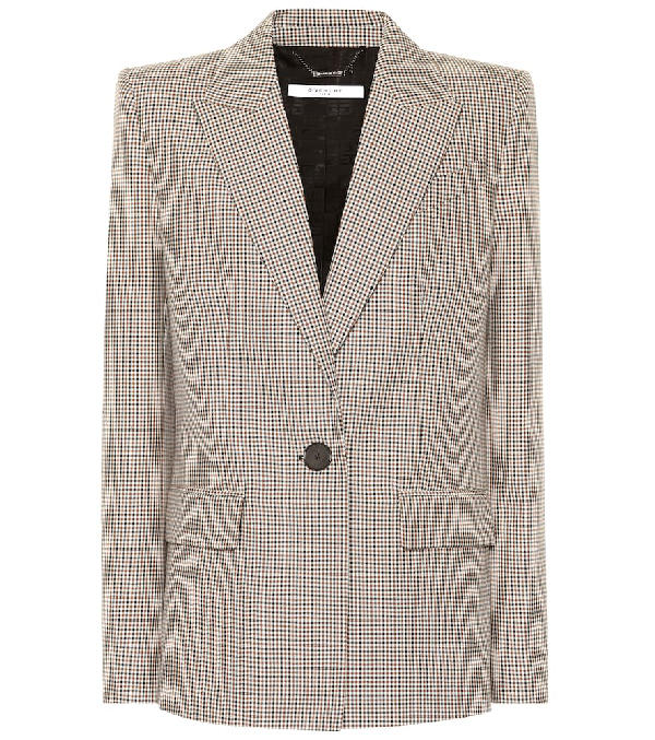 Givenchy Microcheck Single-Breasted Blazer In 103 Multi