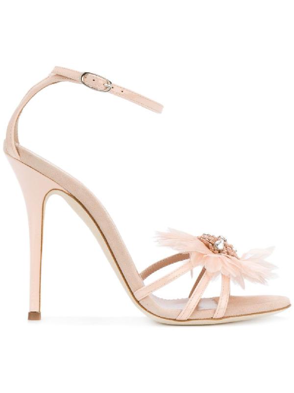 Giuseppe Zanotti Pink Patent Leather Sandals