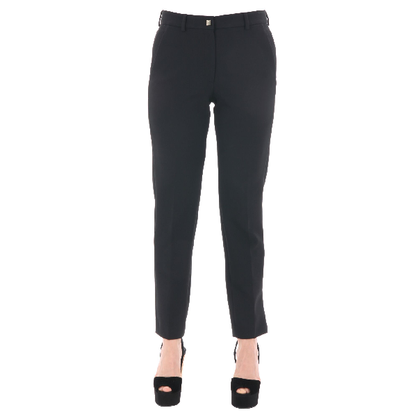 Versace Black Polyester Pants