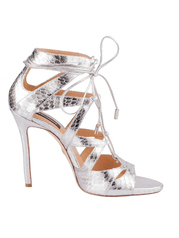 Dsquared2 Silver Leather Sandals