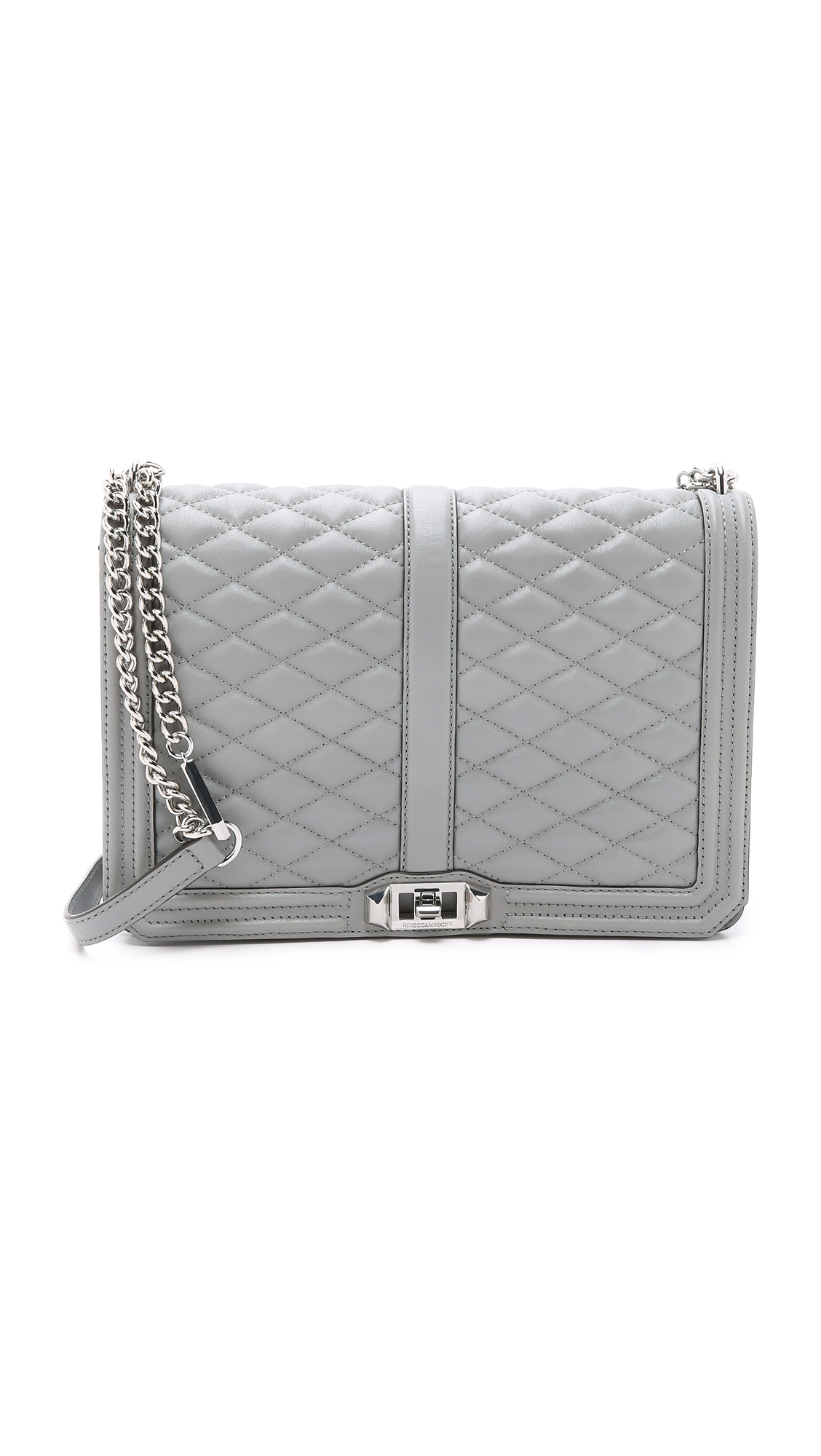 54e67d64b Rebecca Minkoff Quilted Love Jumbo Leather Crossbody Bag In Charcoal ...