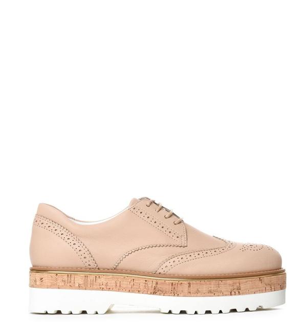 Hogan Women's Beige Leather Lace-up Shoes