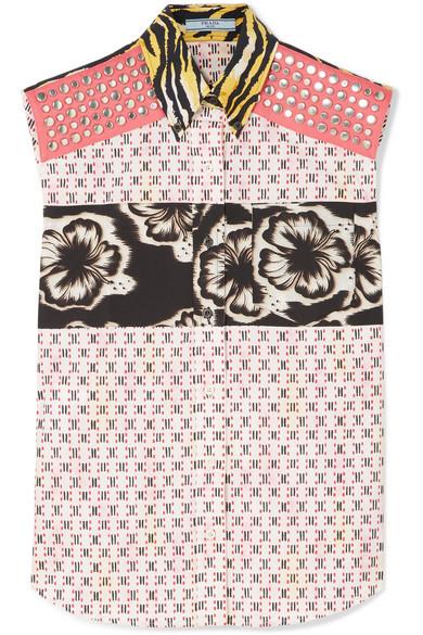 Prada Women's P460Cr1Rfemulti Multicolor Cotton Shirt In Multicolour