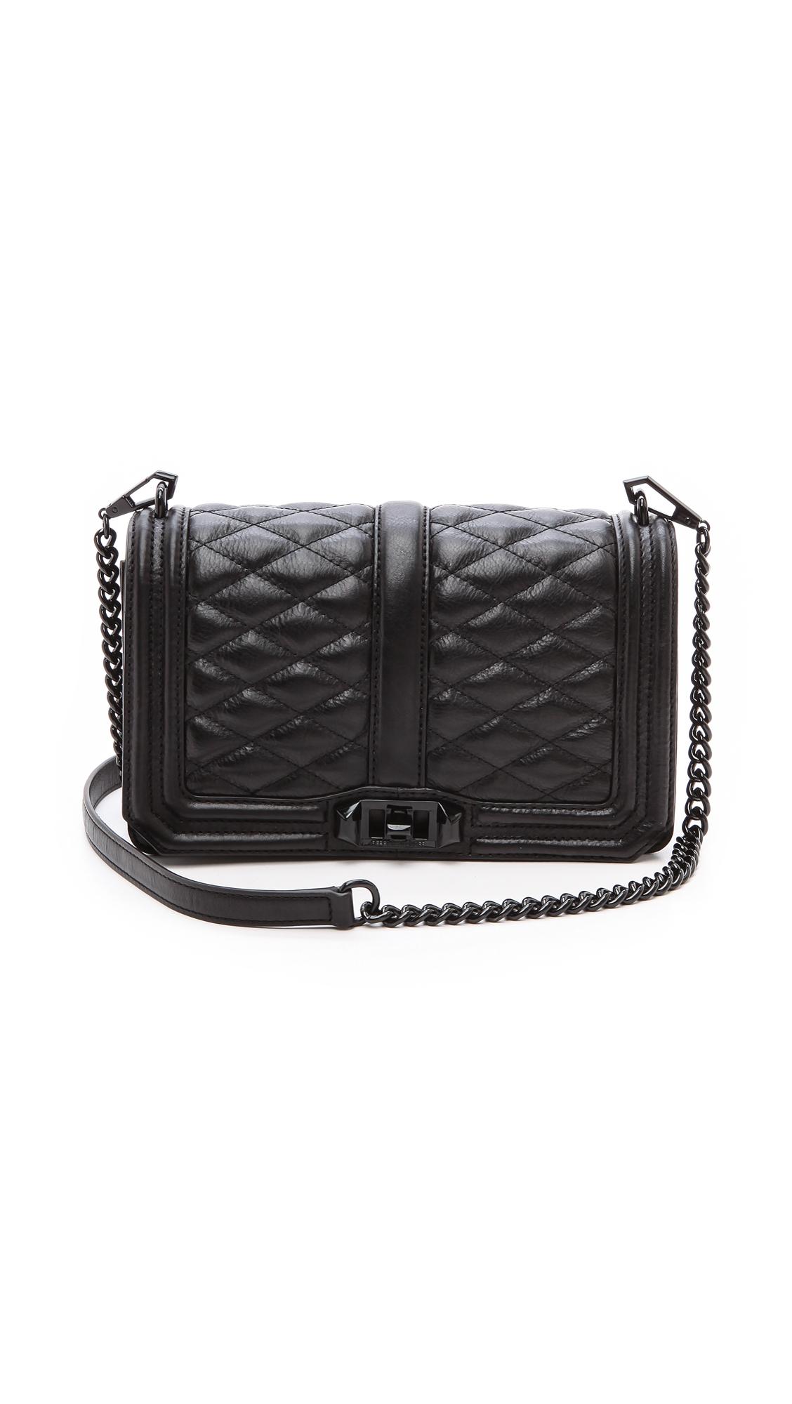 Rebecca Minkoff Love Quilted Leather Shoulder Bag, Black