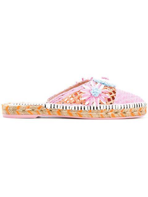 Sophia Webster Pink Leather Sandals