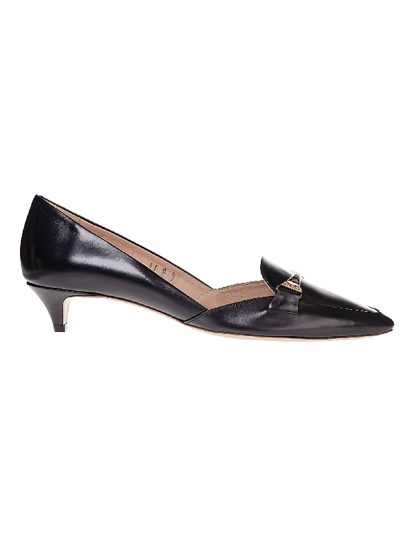 Tod's Black Leather Heels