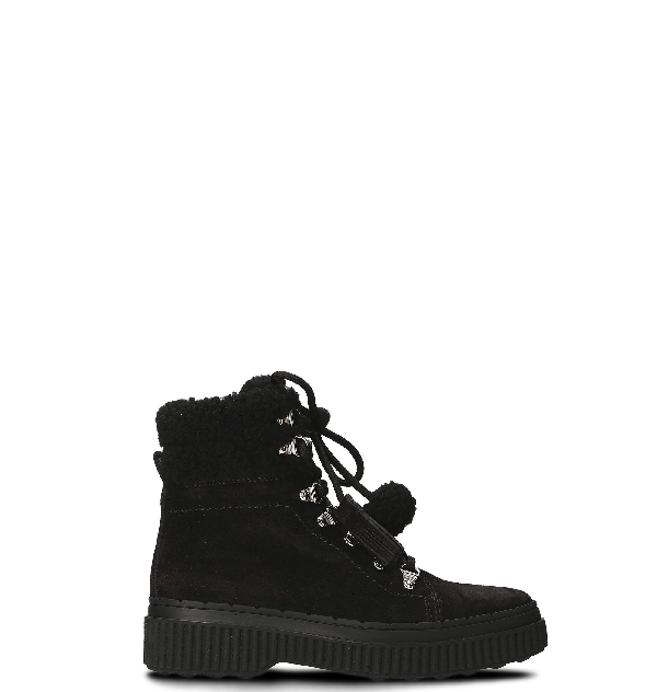 Tod's Gomma Pes Montone Boots In Black