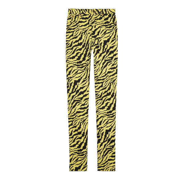 Gucci Yellow Cotton Jeans
