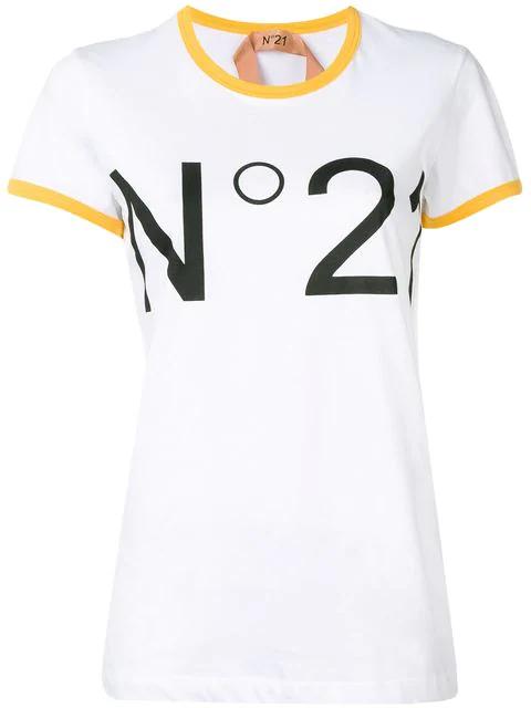 N°21 N&Deg;21 Women's F03141571101 White Cotton T-Shirt