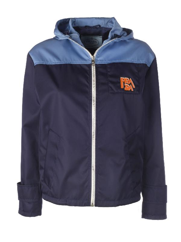 41a3004dda Prada Women's 291496S191I18F0Xr7 Blue Polyamide Outerwear Jacket ...