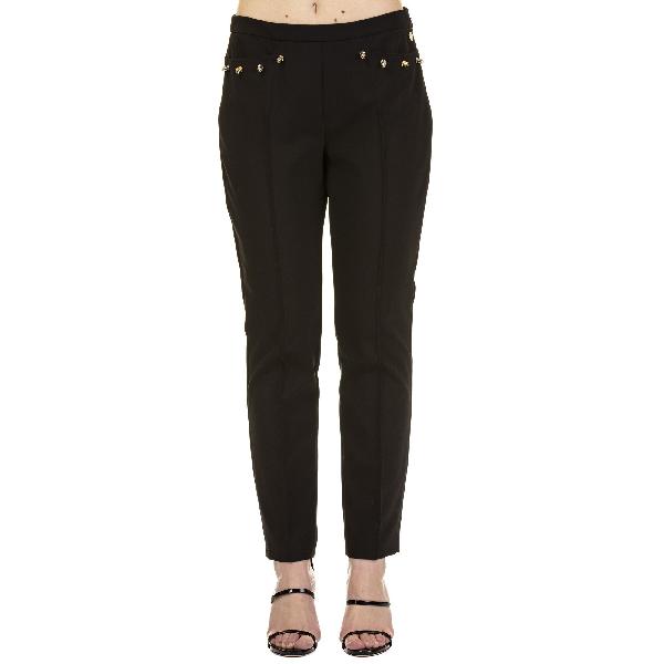 Versace Black Polyester Pants