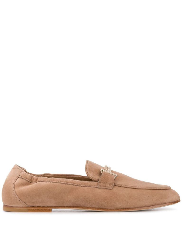 Tod's Women's Beige Leather Loafers