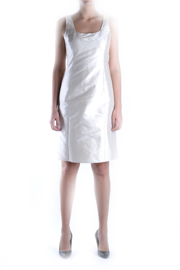 Armani Collezioni White Silk Dress