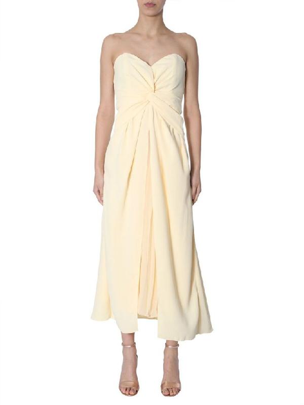 Self-portrait Women's Yellow Polyester Dress