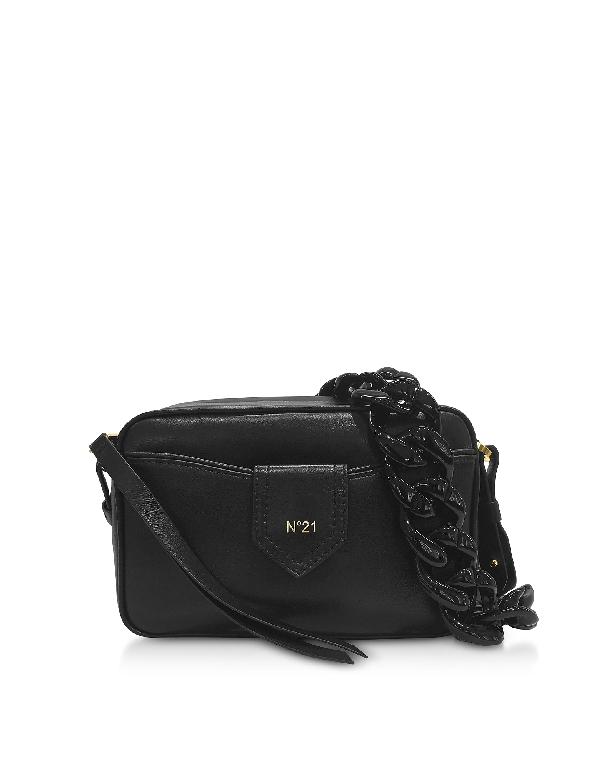 N°21 N&Deg;21 Women's N05162Npo011N0060 Black Leather Shoulder Bag