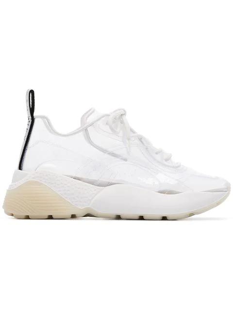 Stella Mccartney Eclypse Faux Leather-Trimmed Pu Sneakers In White