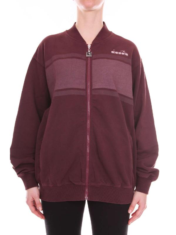 Violeta Grey Sweatshirt Cotton Diadora Mclabels Women's 5021746710375042 Heritage qcLSAj4R35
