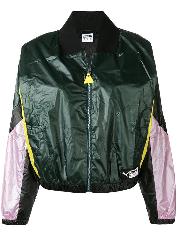 Puma Women's 57803901 Black Polyester Outerwear Jacket In Green