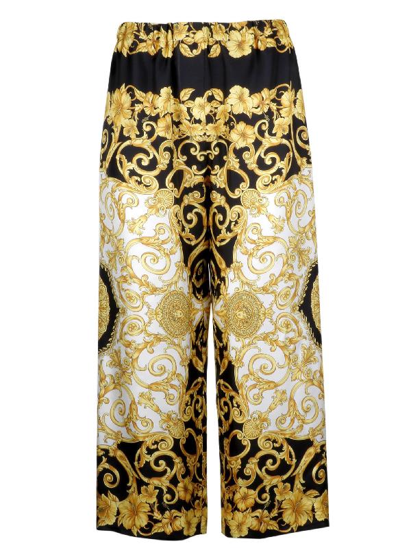 Versace Women's A82117A228617A7900 Gold Silk Pants