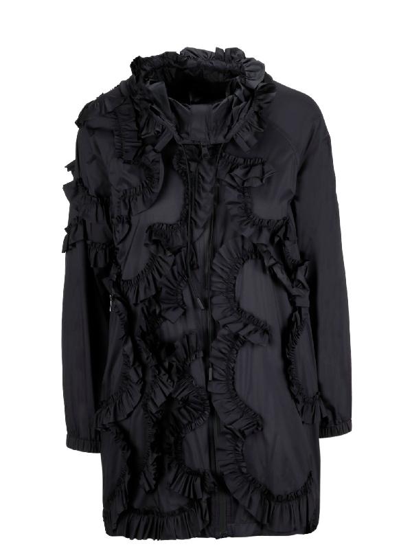 Moncler Women's Black Polyamide Outerwear Jacket