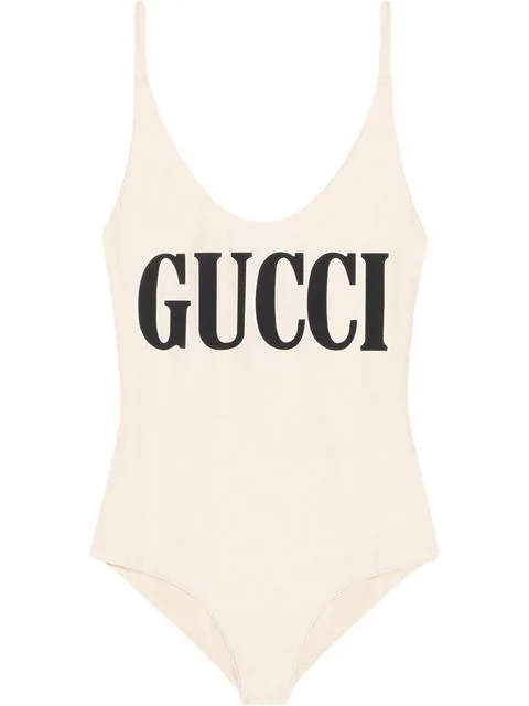 Gucci Women's 501899Xjank9207 White Polyamide One-Piece Suit In Neutrals