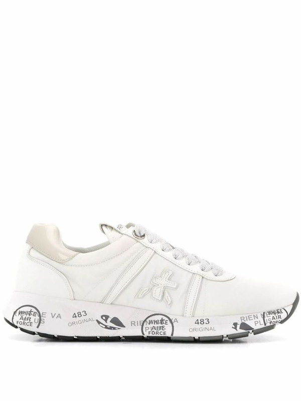 Premiata Women's White Leather Sneakers