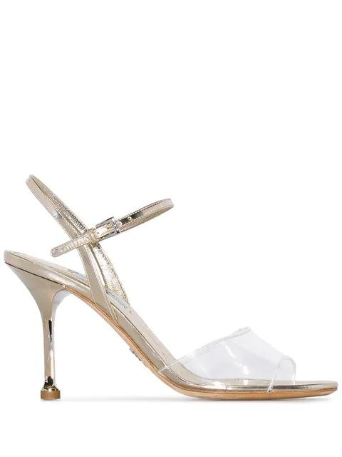 Prada Women's 1X457Lf0903Kgff0846 Gold Leather Sandals